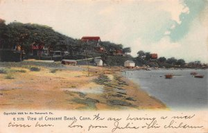 View of Crescent Beach, East Lyme, Connecticut, 1905 Hand Colored Postcard