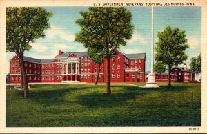 Iowa Des Moines U S Government Veterans Hospital 1941 Curteich