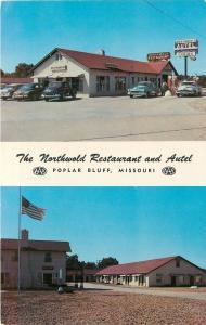 Poplar Bluff MO~Gas Station @ Northworld Restaurant & Autel Early 1950s Cars