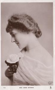 RP: Actress portrait Miss Jessie Bateman; TUCK, Celebrities of the Stage, 1910