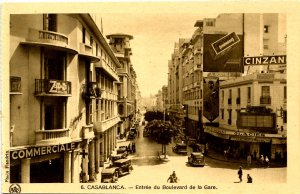 Morocco - Casablanca. Entrance to Train Station Blvd