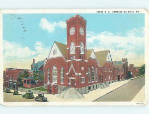 W-Border CHURCH SCENE Dubois Pennsylvania PA hs7797