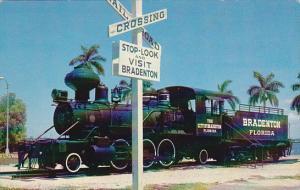 Old Wood Burning Locomotive Displayed in Bradenton Florida