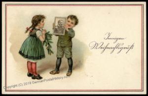 Germany WWI General von Hindenburg Child Humor Jux Kitsche Patriotic PPC 70091