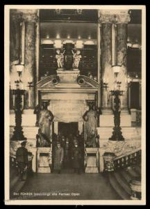 3rd Reich Germany Hitler Paris Opera  RPPC Hoffmann W22 Propaganda Card 89001