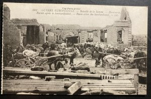 Mint France RPPC Real Picture Postcard WW1 Ruins After Bombardment