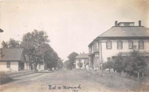 E15/ Clare Ohio Real Photo RPPC Postcard 1911 Clinton County Main Street Hotel?