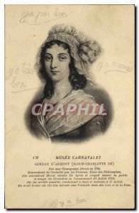 Old Postcard Musee Carnavalet Marie Charlotte Corday d'Armont