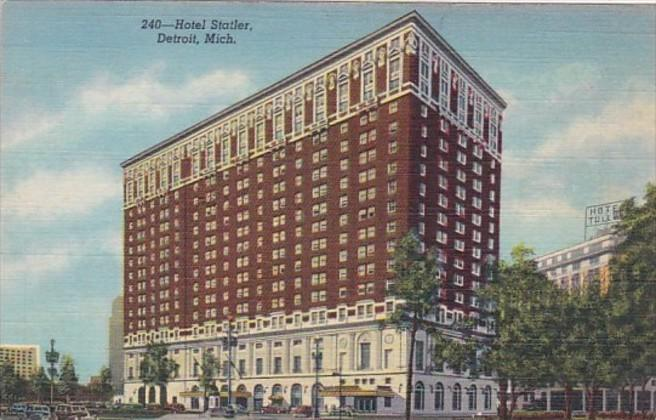 Michigan Detroit Hotel Statler Curteich