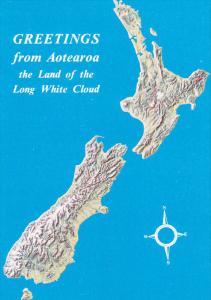 Map of AOTEAROA, New Zealand, 50-70's
