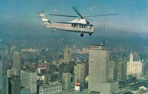 CHICAGO, Illinois, 40-60s; Sikorsky S-58C Helicopter, Chicago Helicopter Airways