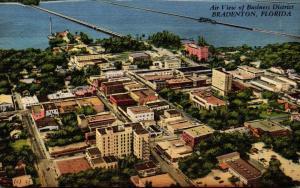 Florida Bradenton Aerial View Of Business District 1956