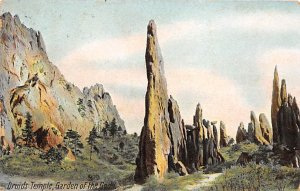 Volcano Post Card Druids Temple, Garden of the Gods Colorado Springs, Colorad...
