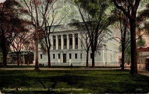 Maine Portland Cumberland County Court House 1916