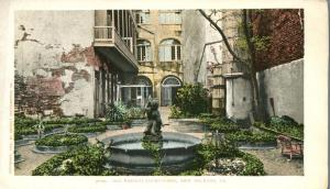 Fountain in Old French Court Yard - New Orleans LA, Louisiana - UDB - Det Photo