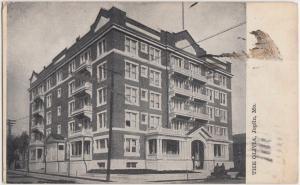 Missouri MO Postcard 1908 JOLPIN The OLIVIA Apartments? Building
