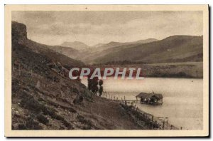 Old Postcard The area of ??the Cevennes The Lake Issarles and Mezenc