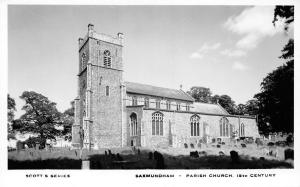 England Saxmundham Parish Church 15th C. Scott's Series, Best Wishes