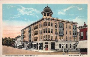 Brown-Proctoria Hotel, Winchester, Kentucky, Early Postcard, Unused