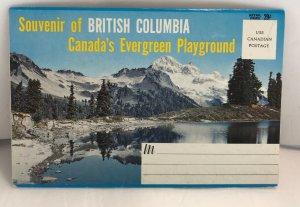 Vintage British Columbia Canada's Evergreen Playground Postcard Folder Book 12