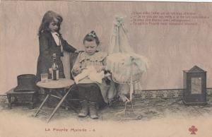 Girl & her Doll with doll doctor , 1905 # 1