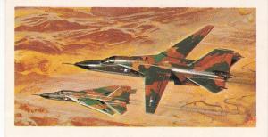 Trade Card Brooke Bond Tea History of Aviation black back reprint No 48 F-111