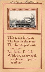F97/ Randolph Nebraska RPPC Postcard c1910  Residences Homes 5