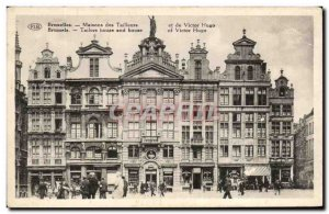 Old Postcard Brussels houses Tailors and Victor Hugo