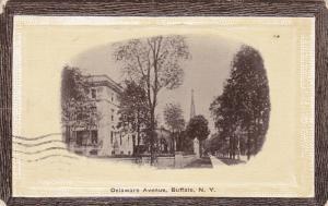 BUFFALO, New York, PU-191; Delaware Avenue, Church In The Background