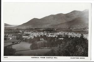 Keswick From Castle Hill RP PPC, Unposted, Valentines XL Series no 3870