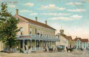 Fox Lake Wisconsin~Fox Lake Hotel~Victorian Ladies & Gents~Livery Stable~1910