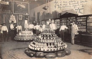General Store Interior Grocery Food Display Real Photo Vintage Postcard AA5552