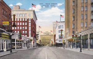 Texas El Paso Texas Street Looking West