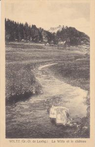 WILTZ , Luxembourg , La Wiltz et le chateau , 1920-30s