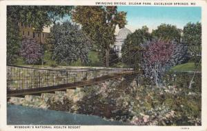 Swinging Bridge at Siloam Park - Health Resort - Excelsior Springs MO Missouri