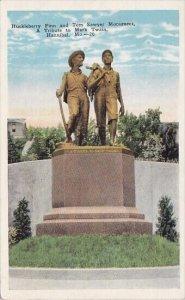 Huckleberry Finn And Tom Sawyer Monument A Tribute To Mark Twain Hannibal Mis...