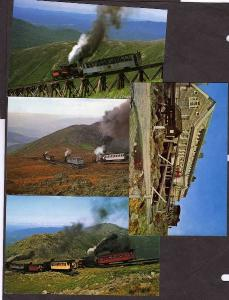 NH Lot 4 Cog Railway Railroad Train Mt Washington New Hampshire Postcards