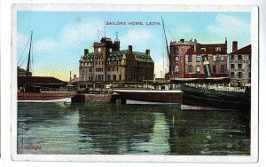 P1262 old unused postcard sailors home leith scotland