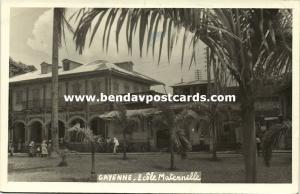 french guyana, CAYENNE, Ecôle Maternelle, School (1952) RPPC