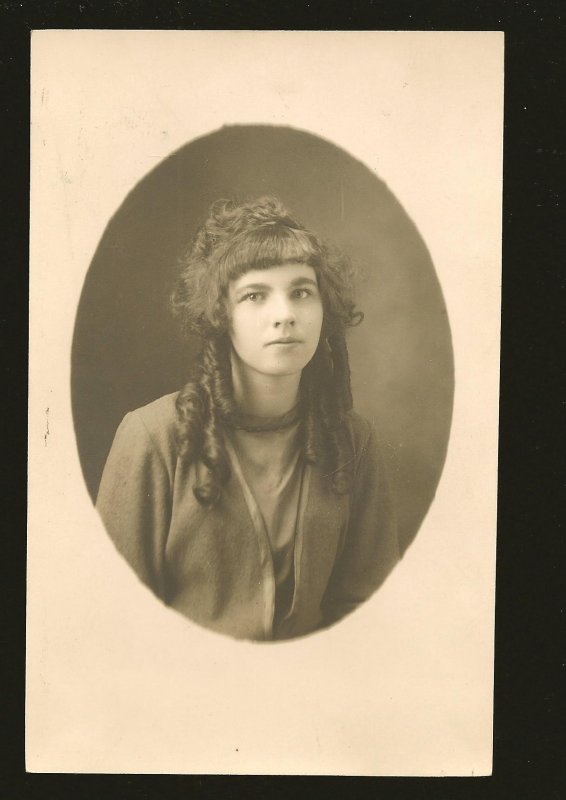 Thos Gushul Coleman Alta Portrait of A Young Lady Real Photo Postcard Unposted