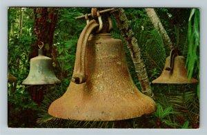 Vero Beach FL- Florida, Iron Bronze and Brass Bells, Chrome Postcard