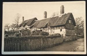 Picture Postcard Unused J. J. Ward Ann Hathaways Cottage England LB
