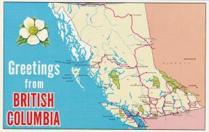Map , British Columbia , Canada , 50-60s