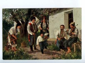 223671 RUSSIA Lvov Ukraine dance Gopak VILLAGE #116 postcard