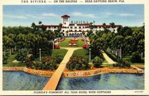 Florida Daytona Beach The Riviera On The Halifax 1941 Curteich