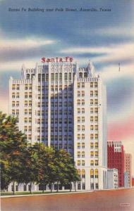 Sante Fe Building on PolkStreet - Amarillo TX, Texas - pm 1944 - Linen