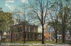Ohio Fremont View Of Birchard Avenue Showing Old Buckland Homestead