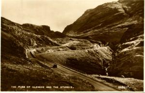 UK - Scotland, The Pass of Glencoe and the Studdie  *RPPC