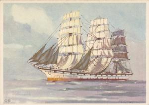 Art Postcard : Sailing Vessel , 30-40s