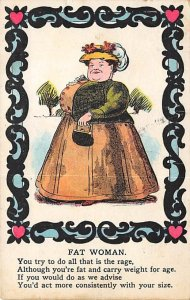 The Fat Woman Comic Occupation, Misc. 1909 PU Missing Stamp